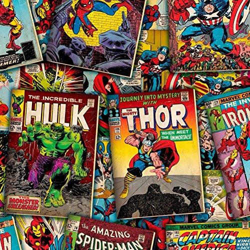 Tela Kawaii con diseño de los personajes de los cómics de Marvel, 0,5m, Kawaii, de Springs Creative, 100% algodón (Hulk de Marvel)