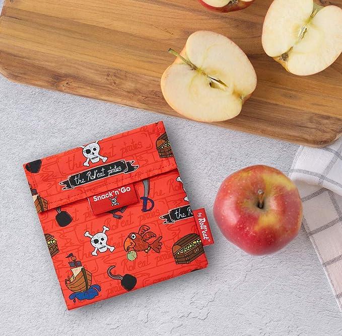 Braun BocnRoll Natur Braun Snack-Aufbewahrung Bio und wiederverwendbare Snack Verpackung ohne BPA Rolleat