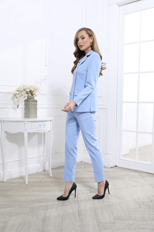 Bluemary Pantalon slim Bleu Clair