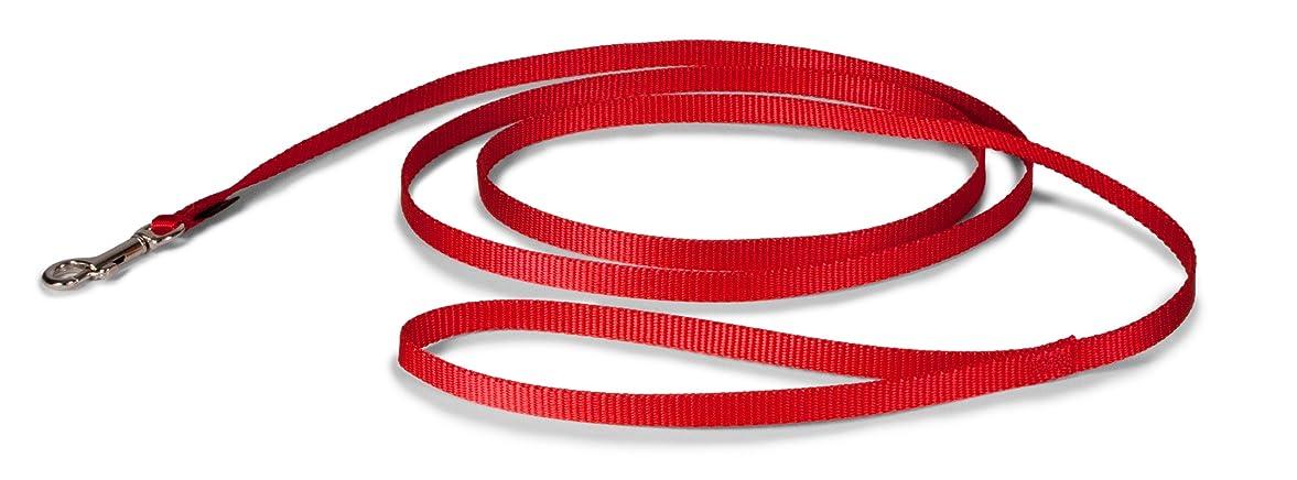 有名ビリーまたはペットセーフ (PetSafe) リーシュ (幅1.0cm×長さ180cm, レッド)