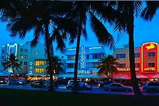 Ocean Drive at Night South Beach Miami Florida Photo Art Print Cool Huge Large Giant Poster Art 54x36