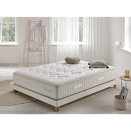Living Sofa Matelas 140x190 cm Magestic® | Double Technologie: Ressorts ensachés et Mousse HR Haute Densité | 30 cm d'Epaisseur | 11 Zones de Confort | Mi-Ferme et Moelleux | Multicouche différenciée