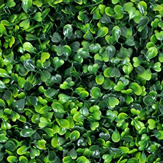 Artificial Boxwood Hedge, Faux Greenery Wall, Privacy Hedge Screen, UV Protected Faux Greenery Mats, Boxwood Wall, Suitable for Both Outdoor or Indoor (20x20 Inch Milan_12pcFBA)