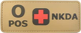LEGEEON Blood Type NKDA Desert AOR1 Tan PVC Rubber 3D Hook&Loop Patch