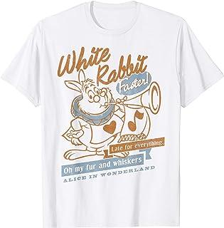 Disney Alice In Wonderland White Rabbit Vintage Maglietta
