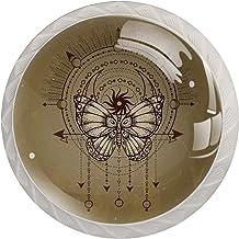 Kabinet lade knoppen Heilige Geometrische Vlinder trekt Handgrepen voor Keuken Kast Badkamer Kabinet Dresser,4 Pack