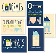 36 Pack House Warming Congratulations On Your New Home Greeting Cards, 6 Unique Style Designs, Bulk Box Set Variety Assortment, Envelopes Included, 4 x 6 Inches