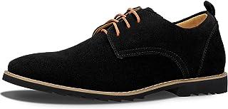 iloveSIA® Chaussures de Ville Homme Cuir Nubuck Oxfords à Lacets Derbies