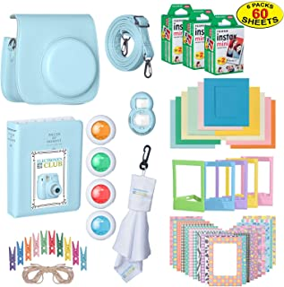 The Ultimate Accessories Kit Bundle for Fujifilm Instax Mini 9 Instant Film Camera | Includes Leather Camera Case + 60 Sheets of Instant Film + Photo Album + Frames + Close-Up Selfie Lenses + More