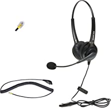 Dual Ear Cisco Headset | Noise Canceling Microphone Headset Compatible with Cisco Phones with RJ9 Headset Jack | RJ9 Heads...