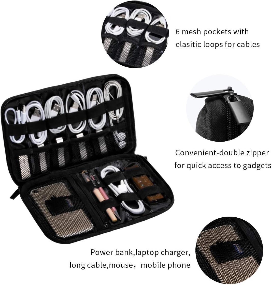 RUIANSHISHENGYOUDA Heartbeat Multi-Function Data Line Storage Bag Electronics Accessories USB Cable Packet Portable