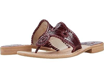 Jack Rogers Jacks Croc Embossed Flat Sandals