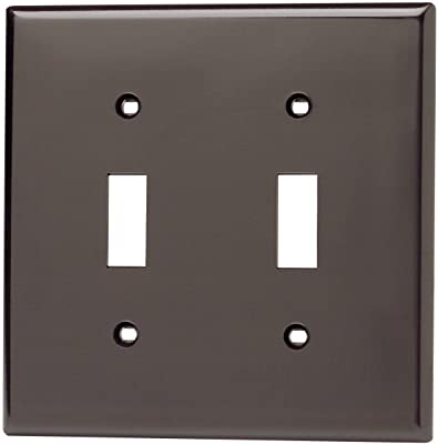 Leviton 88109 2 Gang Toggle Device Switch Wallplate Oversized Thermoset Device Mount White Switch Plates