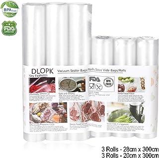 comprar comparacion Bolsas de Vacío 6 Rollos 20x300cm y 28x300cm Bolsas Profesional para la Conservación,Sous Vide Cocina, Certificación de se...
