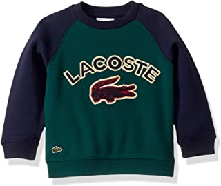 Boys Lacoste Graphic Croc Sweatshirt With Contrasted Sleeves