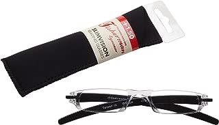 Fisherman Eyewear Slim Vision Rimless Reading Glasses, Shiny Black