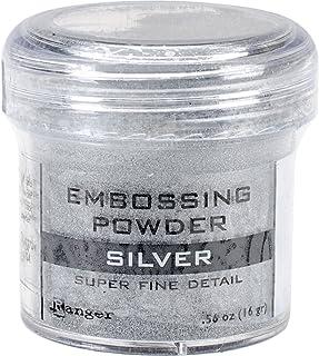 Ranger Embossing Powder, 0.56-Ounce Jar, Super Fine Silver