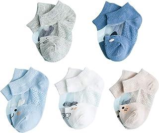 ANIMQUE Ultrafinas Calcetines de Verano para Bebé Niños Niñas Sox Transpirables Calcetines Algodón 0-5 años