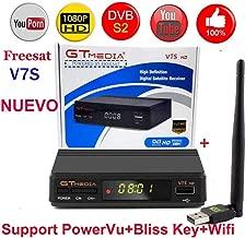RonshinFreesat V7S HD FTA Digital Satellite TV Receiver DVB-S2/S Support BissKey 1080P US plug