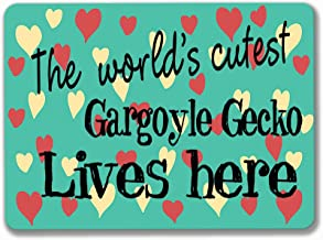 PotteLove Gargoyle Gecko Metal Sign Tin Plaque Aluminum Wall Poster for Garage Man Cave Cafe Bar Pub Club Caffee Beer Patio Home Decoration 12