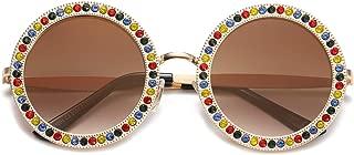 Round Oversized Rhinestone Sunglasses for Women Festival Sunglasses SJ1095