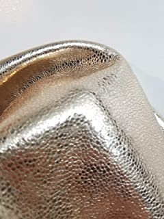 Gold Crackled Italian Metallic 5-7 Square Feet 1.5 oz 0.8-1.0 mm Soft Goat Skin Upholstery Garment Handbag Crafting Genuine Leather Skin Hide Tooling Crafting About 24