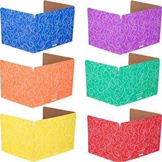 Really Good Stuff Student Privacy Shields - 6 Group Colors - Star and Swirl - Matte - Set of 12, 6 Colors - Privacy Dividers Keep Eyes from Wandering During Tests/Assignments