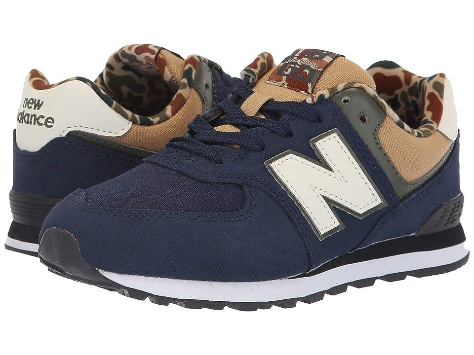 New Balance Kids GC574v1 (Big Kid) (Pigment/Hemp) Boys Shoes