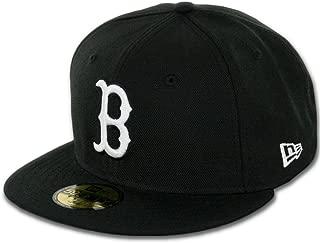 New Era 59Fifty Hat MLB Basic Boston Red Sox Black/White Fitted Baseball Cap