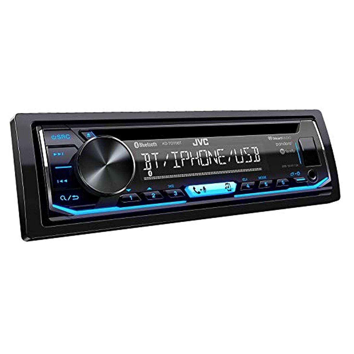 JVC KD-TD70BT CD Receiver Featuring Bluetooth/USB/Pandora/iHeartRadio/Spotify/FLAC / 13-Band EQ