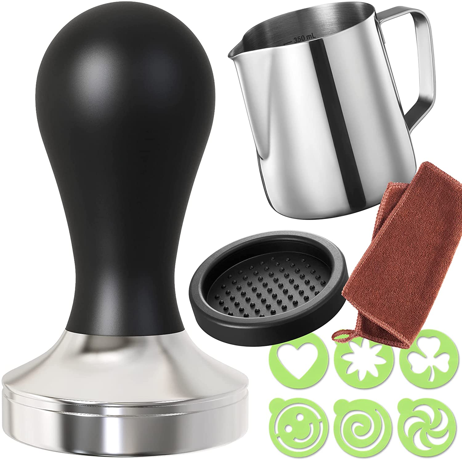 discount Practimondo Espresso OFFicial shop Tamper Set - Pitcher Frothing 51mm