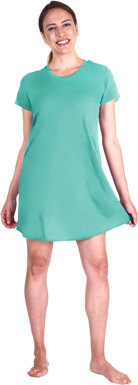 Cooljams Moisture Wicking Sleepwear for Women  Scoop Neck Loose Fit Nightshirt
