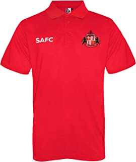 Sunderland AFC Official Football Gift Mens Crest Polo Shirt Red XL
