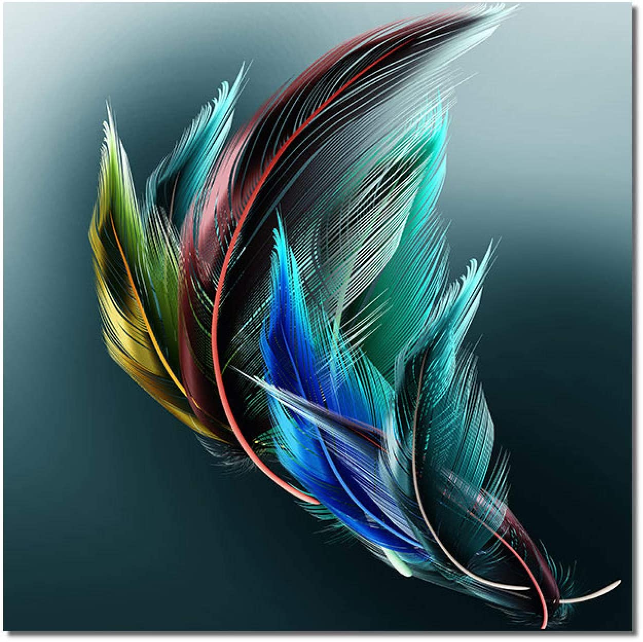 Sunsightly Canvas Paintings Luminescent Modern Philadelphia Mall Feathers Max 43% OFF Abstract