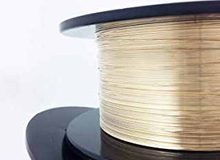 1 Ounce (91 Ft) 14/20 Yellow Gold Filled Wire 24 Gauge, Half Round, Dead Soft - from Craft Wire