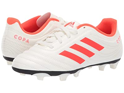 adidas Kids Copa 19.4 FG Soccer (Little Kid/Big Kid) (Off-White/Solar Red/Off-White) Kids Shoes