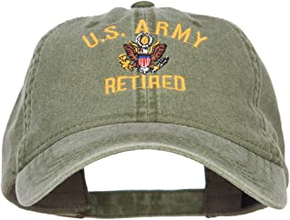 e4Hats.com US Army Retired Military Embroidered Washed Cap