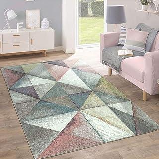 Paco Home Alfombra Moderna Diseño Triángulos Colorido