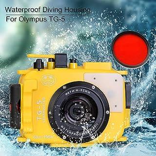 Sea Frogs 60 M / 195フィート水中防水ダイビングカメラケースオリンパスTG5のための