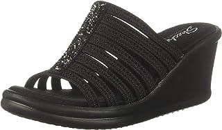 Women's Rumblers Galore-Rock Glitter Multi-Strap Slide Wedge Sandal