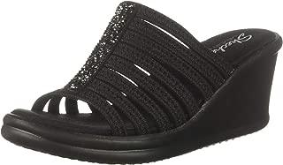 Best black glitter wedge sandals Reviews