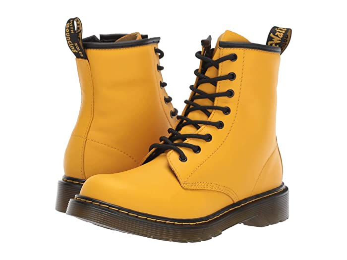 Dr. Martens Kids Collection  1460 Delaney Boot (Big Kid) (Yellow Romario) Kids Shoes