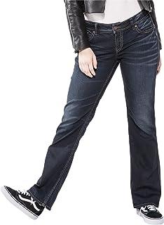 Silver Jeans Co. Women's Plus Size Suki Mid Rise Slim Bootcut Jean