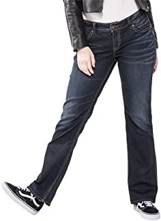 Women's Plus Size Suki Curvy Fit Mid Rise Slim Bootcut Jeans
