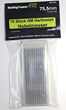10 stuks HM hardmetalen draaimes/schaafmessen 75,5 x 5,5 x 1,1 geschikt voor Black&Decker B&D / DN750 / BD750 / DN 750 / B...
