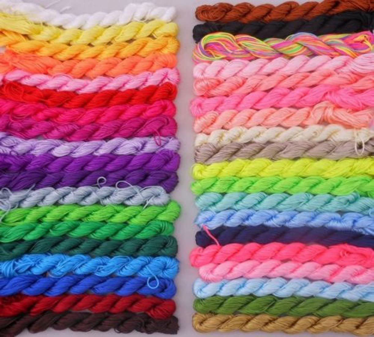 CHENGYIDA Regular store 18 Different Color Rare Nylon Chinese Shamball Knot Macrame