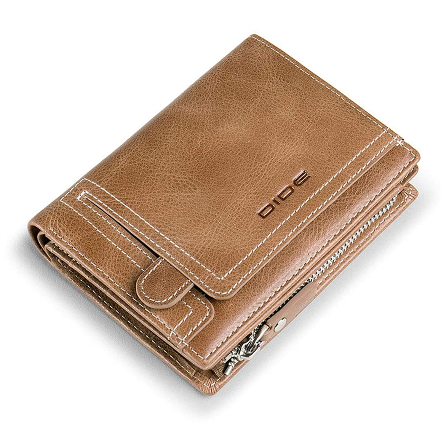 サンダー安定しました整理する(BaQi Trade)財布 二つ折り財布 メンズ財布 ファスナー メンズ 二つ折り 紳士用財布 牛本革 レザー 2つ折り