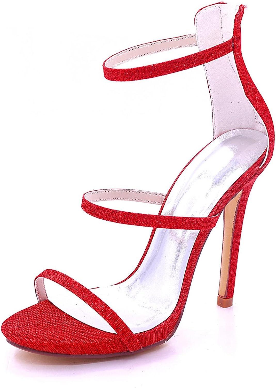 Frauen Peep Toe High Heel 7216-05C Hochzeit Party Party Schuhe Braut Party  verschiedene Größen