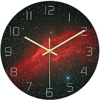 Zacheril Reloj De Pared De Números Reloj de Pared de Silencio Patrón Reloj de Pared Creativo Estrellada Reloj de Pared for...
