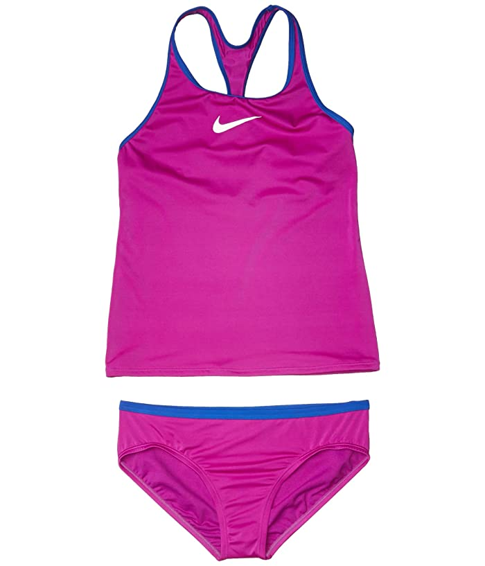 Nike Kids  Racerback Tankini (Little Kids/Big Kids) (Vivid Purple) Girls Swimwear Sets